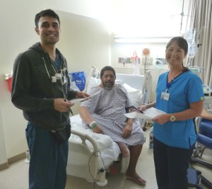 Medical staff conducting hourly rounding