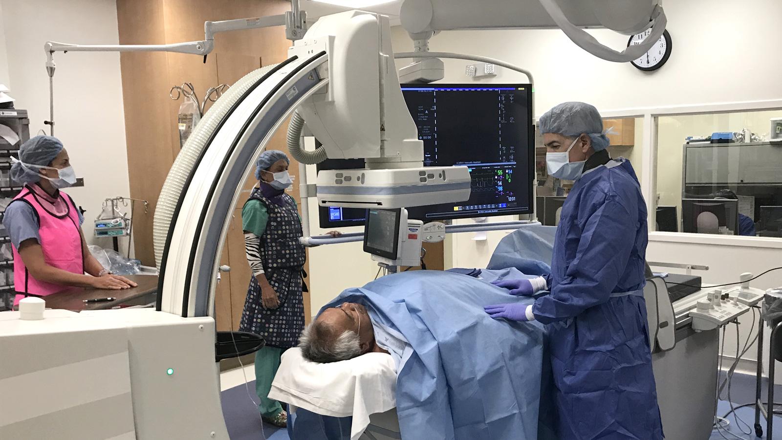 Patient undergoing CT