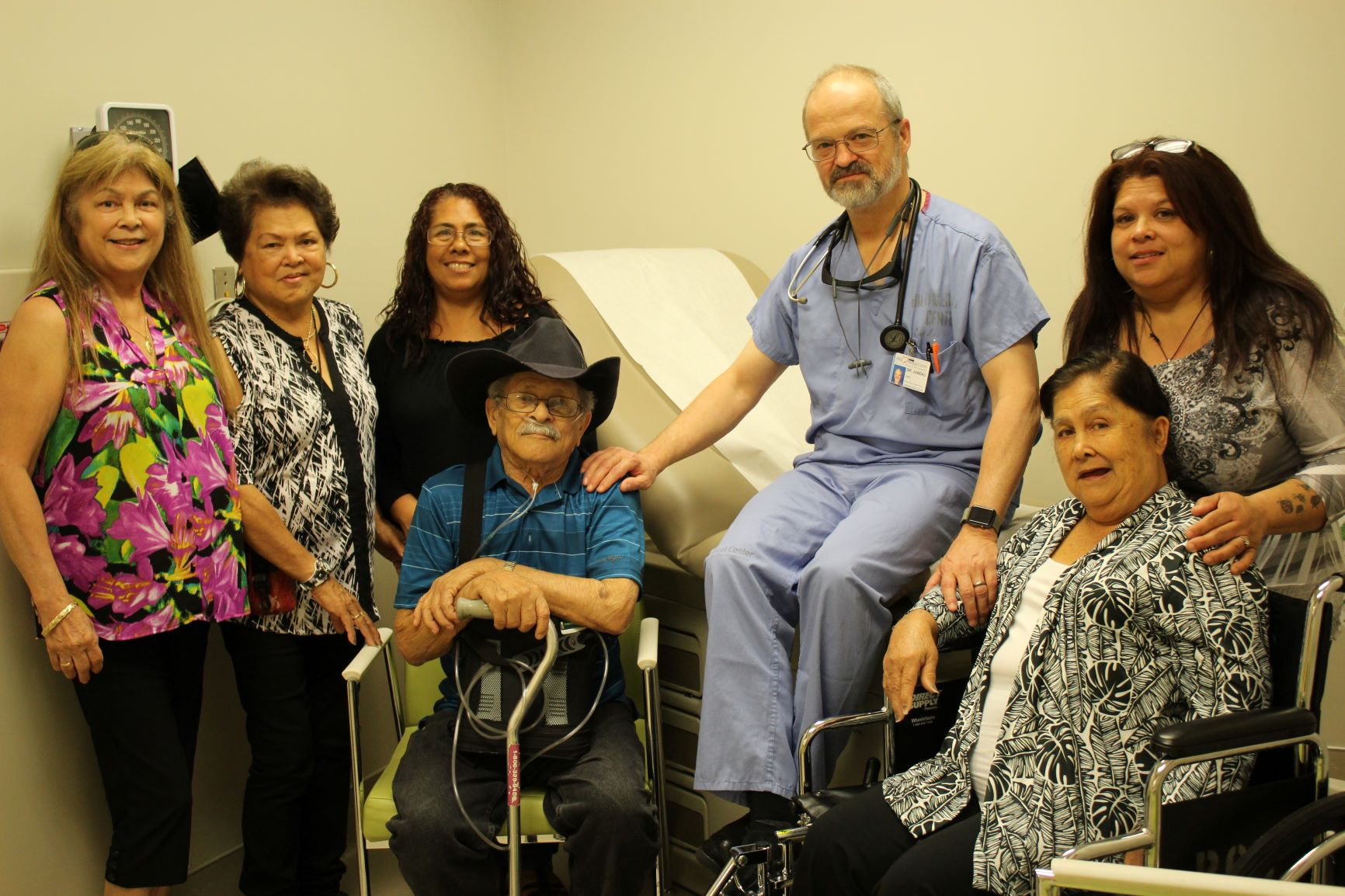 Interventional Cardiology staff with stroke survivors