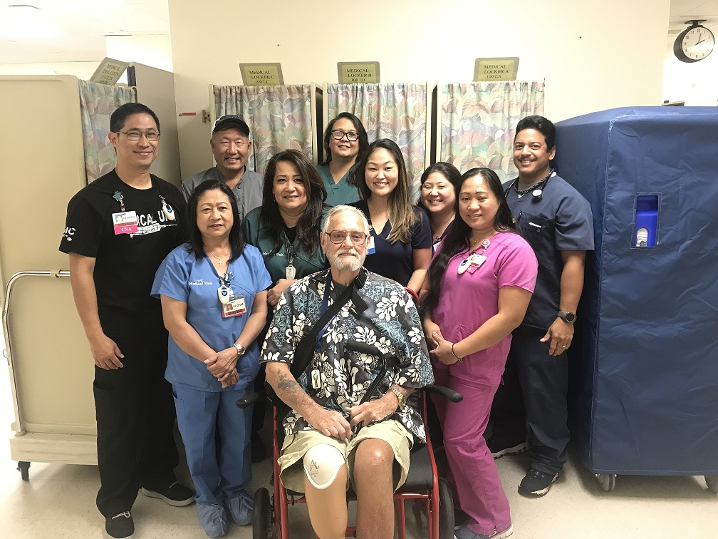 Charles Caldwell reunion with care team